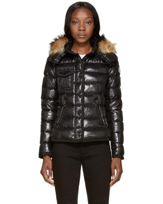 Moncler | Black Down & Fur Armoise Jacket | Lyst
