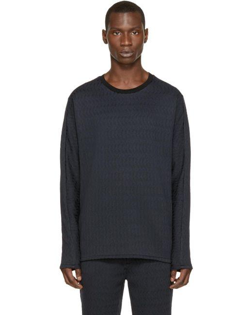 3.1 Phillip Lim   Blue Navy & Black Brocade Pullover for Men   Lyst