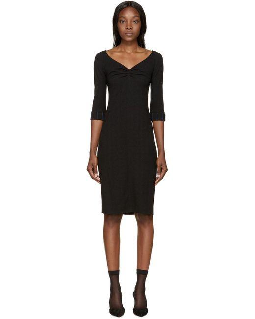 Nina Ricci | Black Wool Off-the-shoulder Dress | Lyst