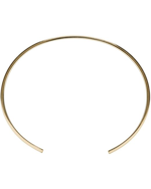 Le Gramme   Metallic Gold Polished Le 21 Grammes Cuff   Lyst