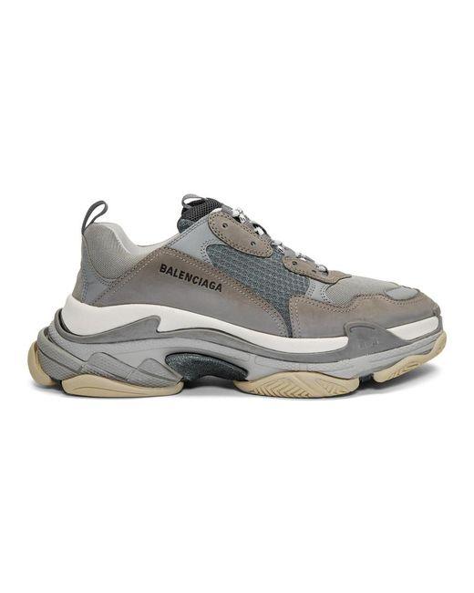 73302a54aaa2 Balenciaga - Gray Grey Triple S Sneakers for Men - Lyst ...