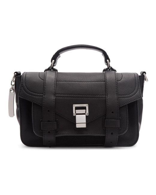 Proenza Schouler - Black Tiny Ps1 Messenger Bag - Lyst