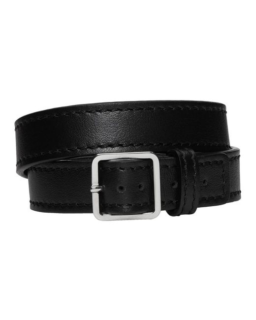 Maison Margiela - Black Wrap Bracelet for Men - Lyst