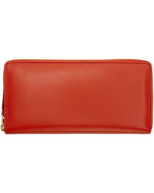 Comme des Garçons | Orange Classic Continental Zip Wallet | Lyst