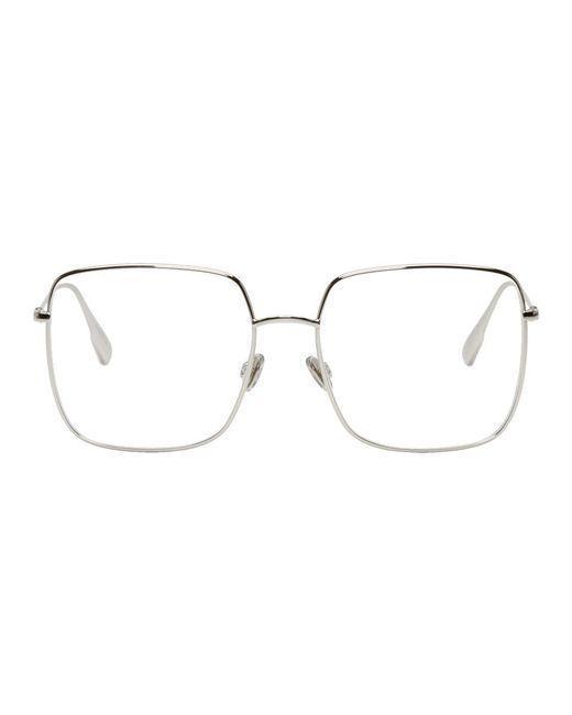 Dior - Metallic Silver Stellaire 01 Glasses - Lyst
