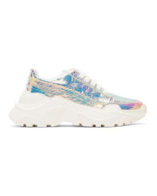 Joshua Sanders - Blue Multicolor Holographic Zenith Light Sneakers - Lyst