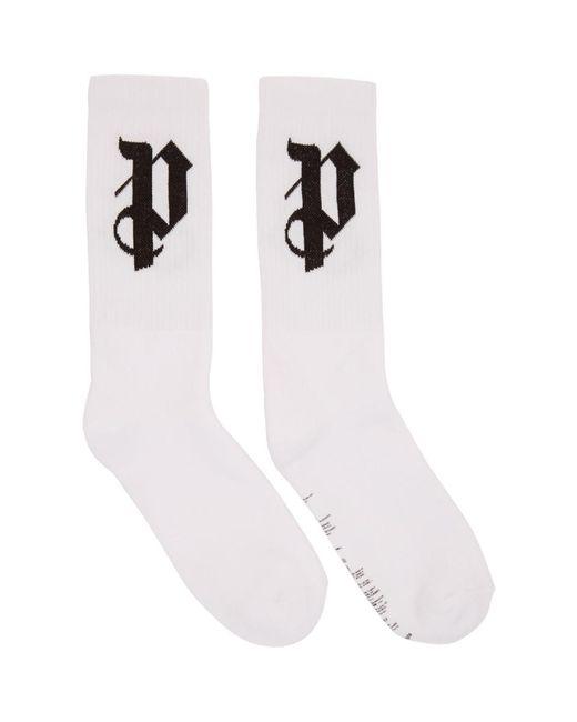 Palm Angels - White Pa Monogram Socks for Men - Lyst