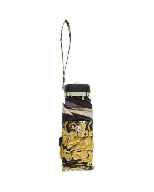 Versace - White And Gold Barocco Umbrella - Lyst