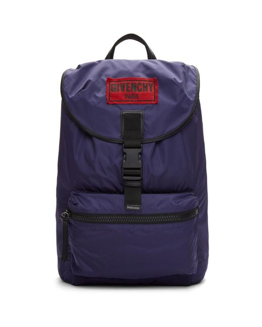 Givenchy - Blue Navy Nylon Obsedia Backpack for Men - Lyst