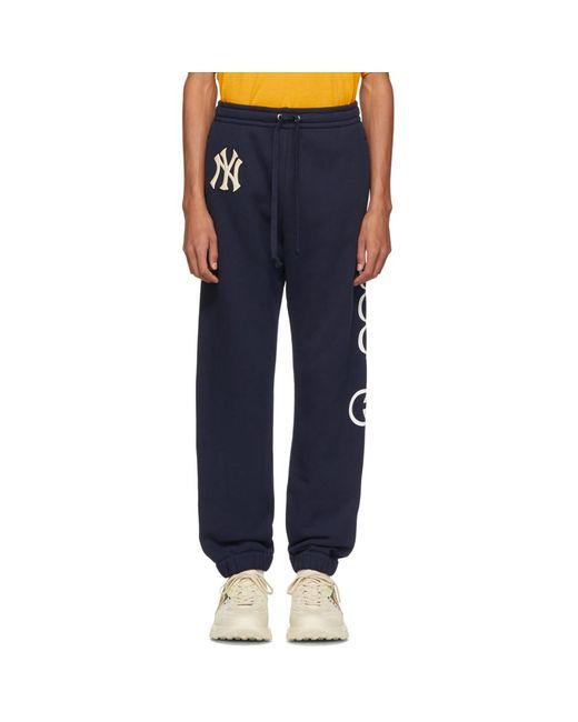 Gucci - Blue Ny Yankees Edition ネイビー パッチ ラウンジ パンツ for Men - Lyst