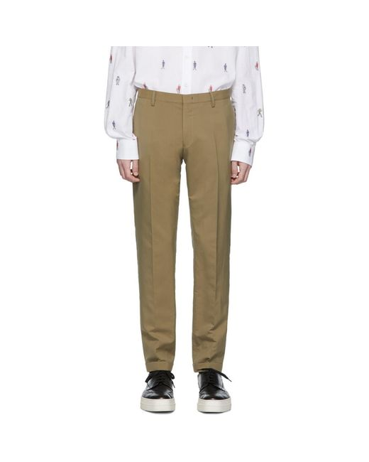 Paul Smith - Natural カーキ Gents トラウザーズ for Men - Lyst