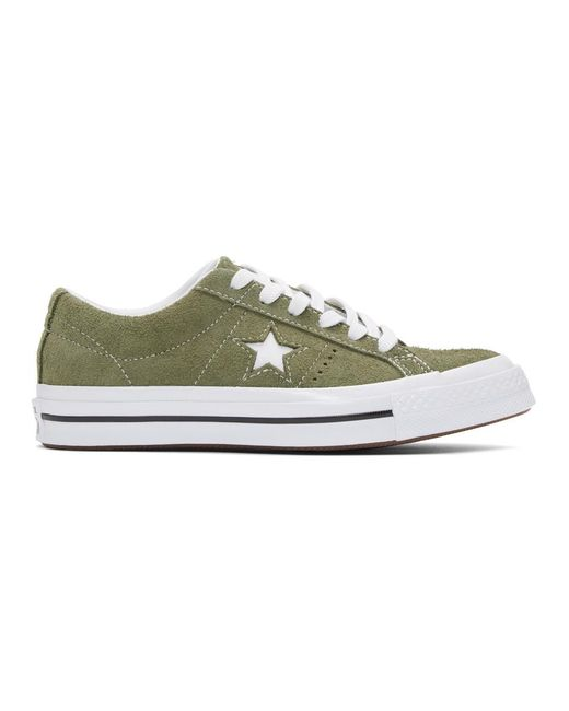 Converse - Natural Khaki Suede One Star Sneakers - Lyst