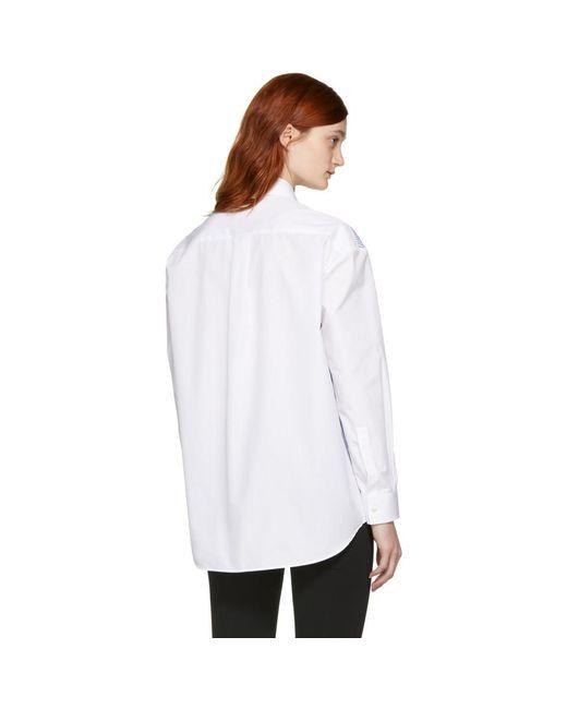 ribete rayas con blancas Margiela Maison Camisa de Lyst de 4vPUwqxxzF
