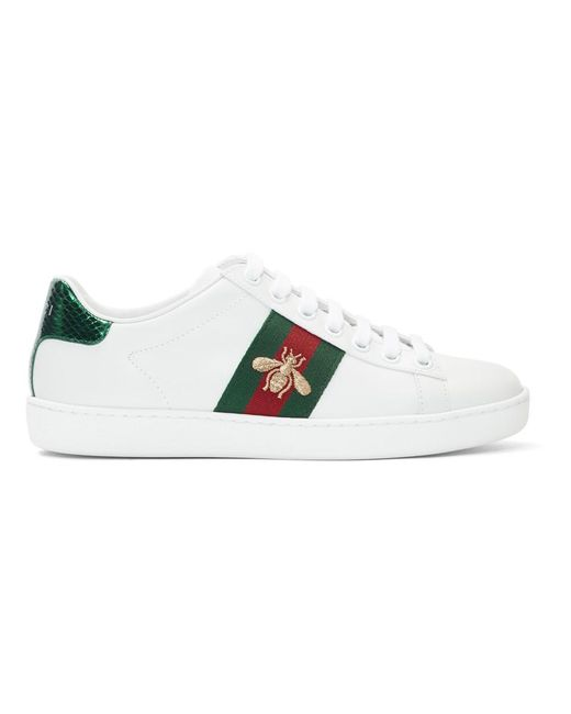 781990d73fa Gucci White New Ace Sneakers in White - Lyst