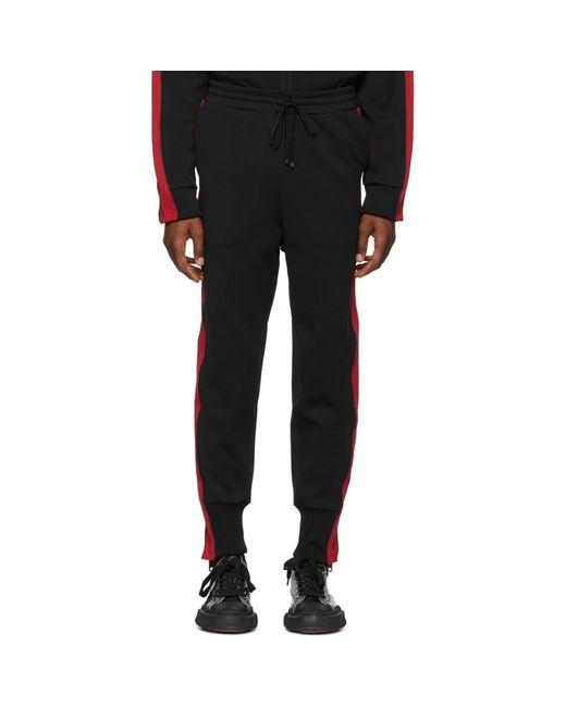 Miharayasuhiro - Black Pantalon de survetement noir et rouge Side Stripe for Men - Lyst