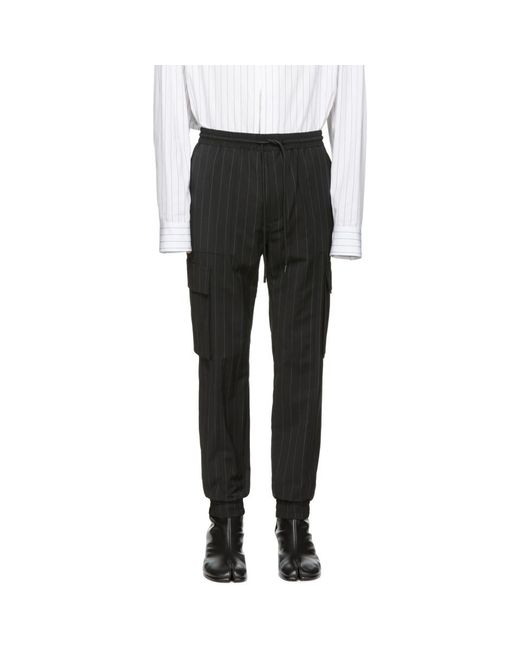Juun.J - Black Striped Cargo Pants for Men - Lyst
