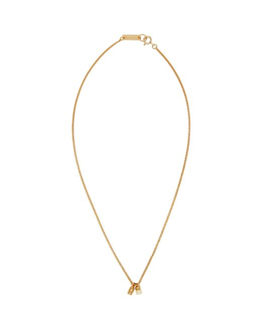 Isabel Marant | Metallic Gold And Ecru New All Right Necklace | Lyst