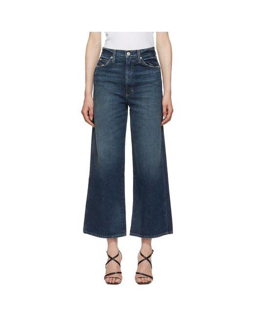 AMO - Blue Ava Wide Leg Jeans - Lyst