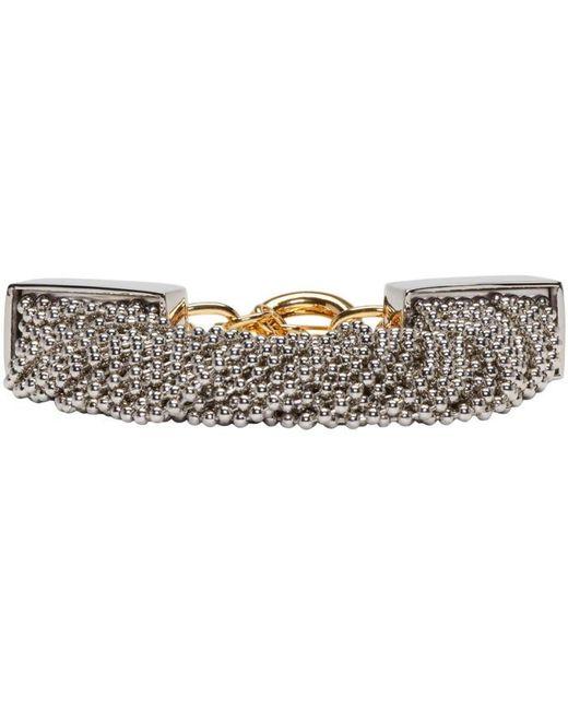 Alexander Wang | Metallic Silver Ball Chain Bracelet | Lyst