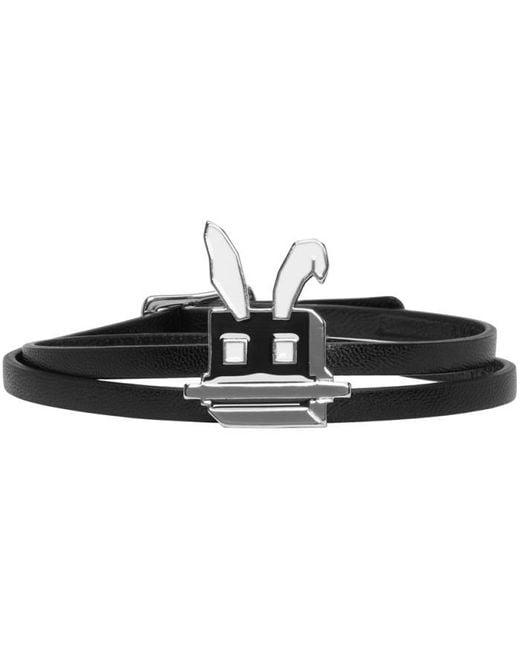 McQ Alexander McQueen | Black Electro Bunny Mini Wrap Bracelet | Lyst