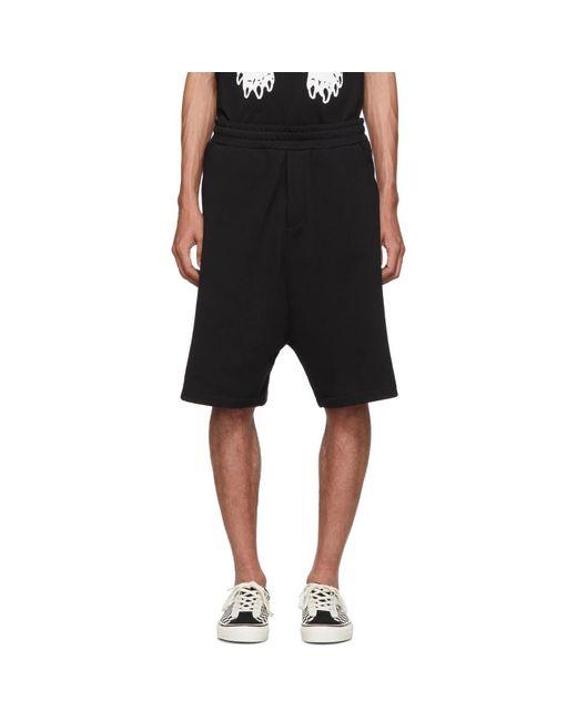 Short a entrejambe bas noir Dart McQ Alexander McQueen pour homme en coloris Black