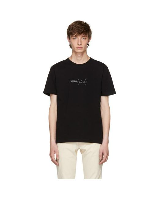 Yohji Yamamoto | Black New Era Edition Logo T-shirt for Men | Lyst