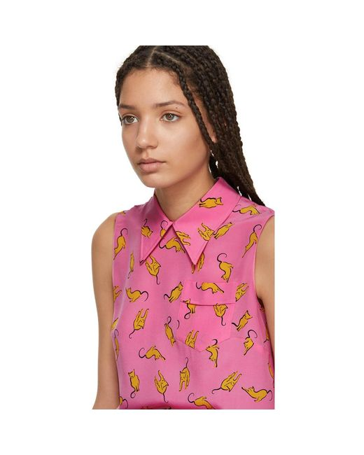 Visit Sale Online Store Sale Pink Cats Camisole Miu Miu Discount Codes Clearance Store Discount Wholesale Price jfUtF3