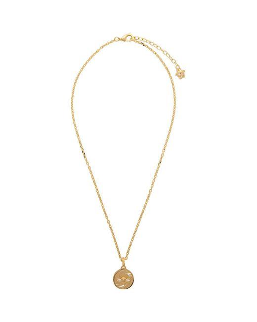Versace - Metallic Gold Round Medusa Pendant Necklace for Men - Lyst