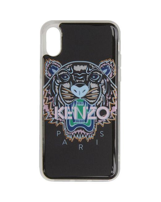 Lyst - Etui pour iPhone X XS noir et rose Tiger KENZO pour homme en ... 53ca1ecca32