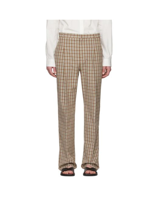 Acne - Multicolor Orange Check Kalnar Suit Trousers for Men - Lyst