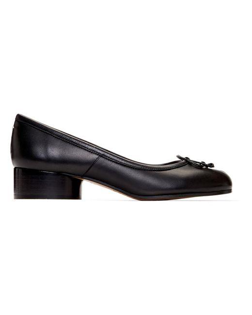 39d921ac109e Lyst - Maison Margiela Black Tabi Ballerina Heels in Black