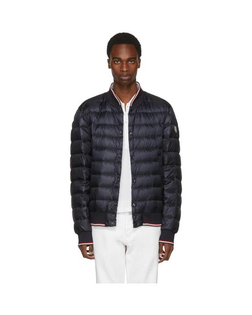 Moncler - Blue Navy Down Aubry Jacket for Men - Lyst