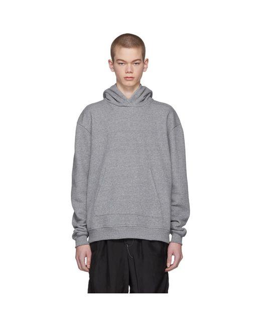 John Elliott - Gray Grey Oversized Cropped Hoodie for Men - Lyst