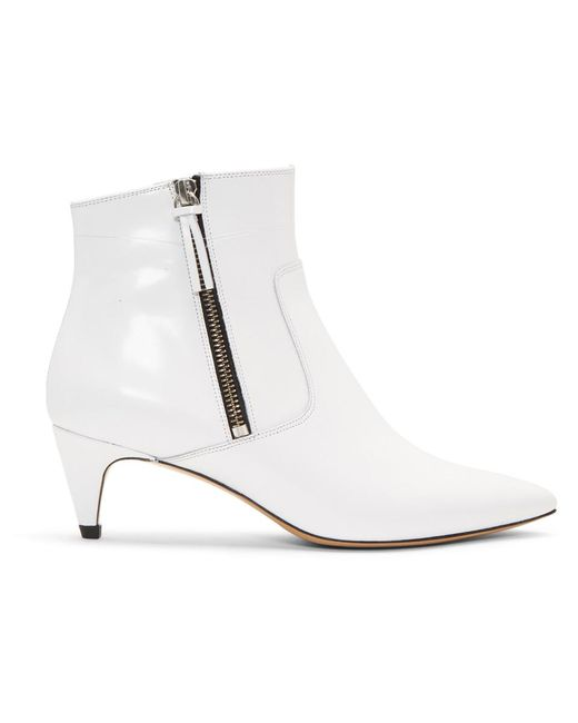 Isabel Marant - White Deby Ankle Boots - Lyst