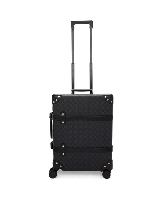 8571f94dbc3a ... Gucci - Black Globe-trotter Edition GG Carry-on Suitcase for Men - Lyst