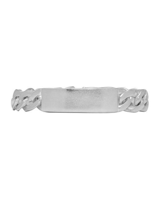 Maison Margiela - Metallic Silver Tag Chain Bracelet for Men - Lyst