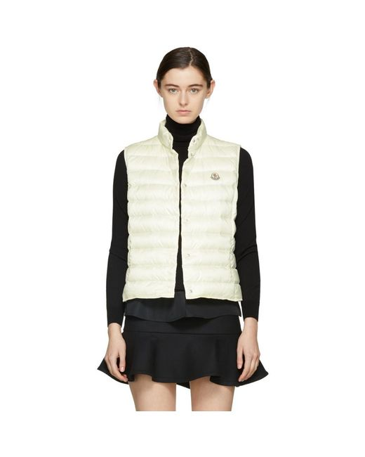Moncler - Off-white Down Liane Vest - Lyst ...