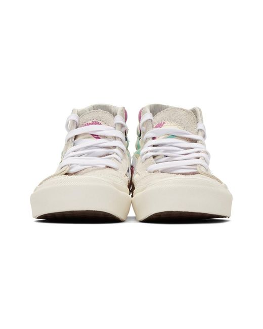 050c915726 ... Vans - White And Off-white Embroidered Palm Sk8-hi Bricolage Sneakers  for Men ...