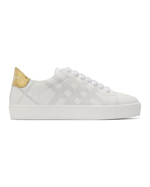 Burberry - White Westford Sneakers - Lyst