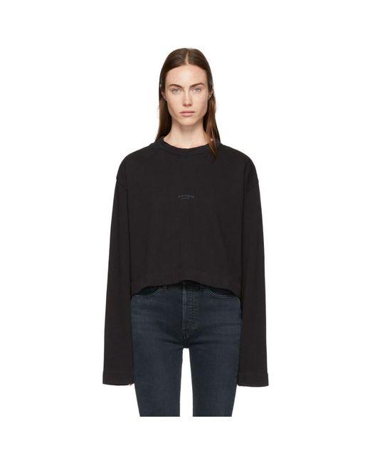Acne - Black Odice Sweatshirt - Lyst