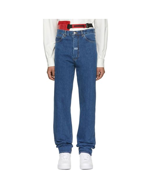 Martine Rose - Blue Indigo High Waisted Jeans for Men - Lyst