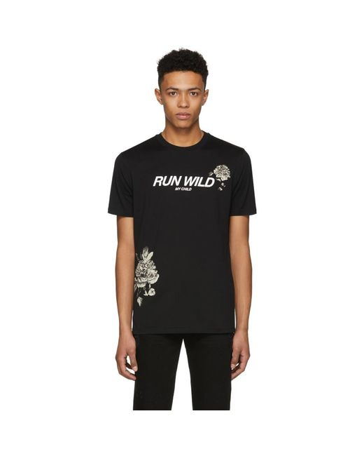 Givenchy - Black Run Wild My Child T-shirt for Men - Lyst