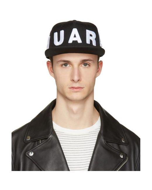 DSquared² | Black Embroidered Logo Cap for Men | Lyst