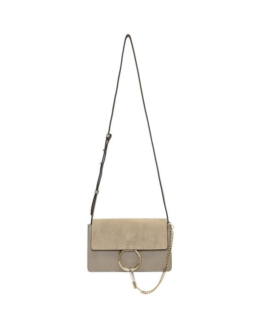 Chloé - Gray Grey Small Faye Bag - Lyst