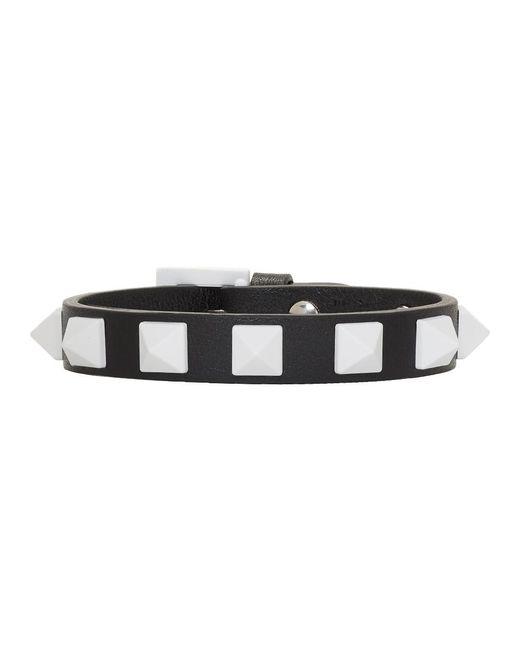 Valentino - Black And White Garavani Rockstud Free Bracelet - Lyst