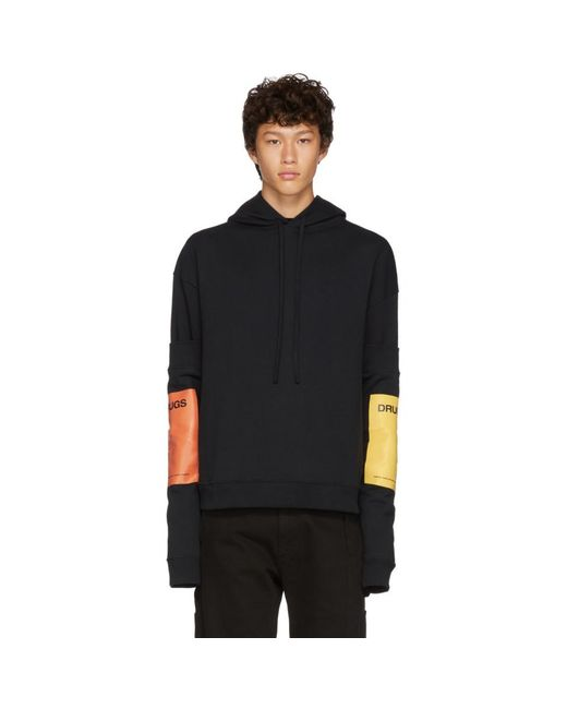 Raf Simons - Black Cotton Jersey Sweatshirt W/ Sleeves for Men - Lyst