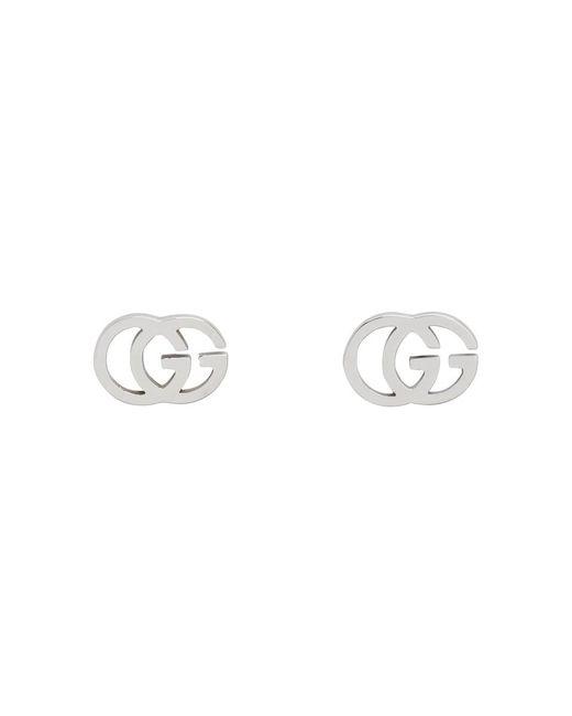 Gucci - Metallic シルバー GG ティシュー スタッド ピアス - Lyst