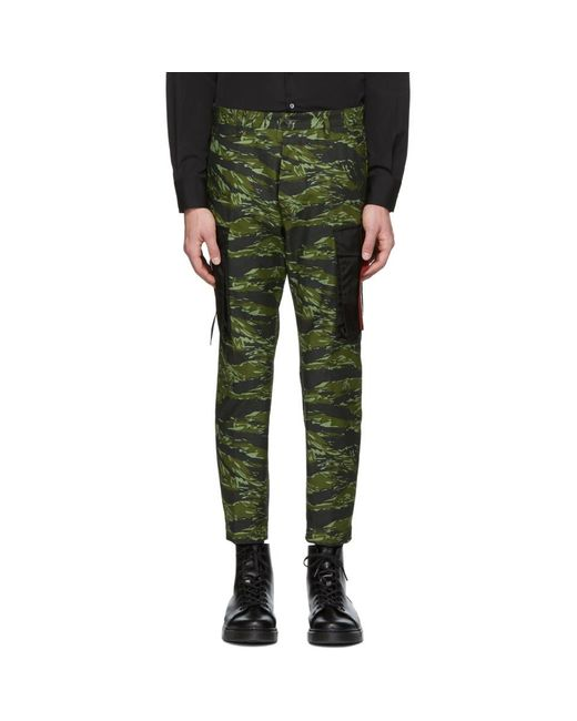 DSquared² - Green グリーン カモ カーゴ パンツ for Men - Lyst