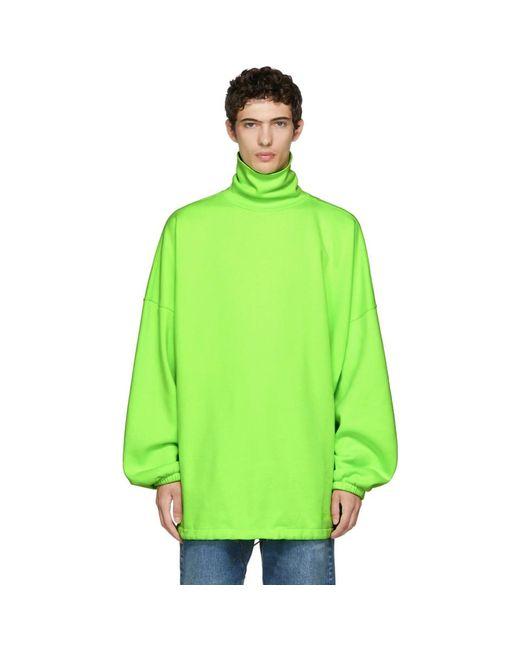 Balenciaga - Green Oversized Turtleneck for Men - Lyst