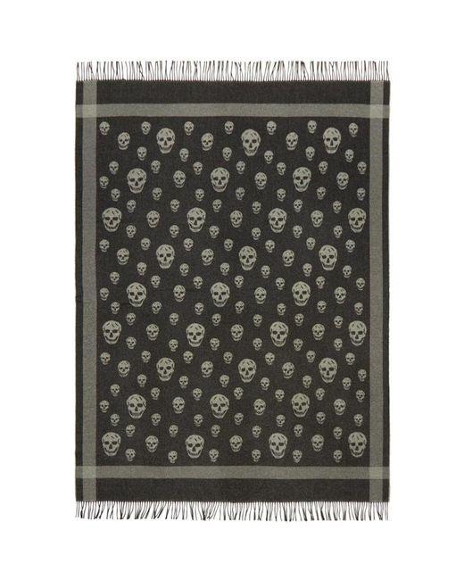 Alexander McQueen | Black & Grey Skull Blanket Scarf | Lyst